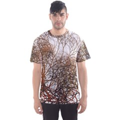 Digitally Painted Colourful Winter Branches Illustration Men s Sport Mesh Tee