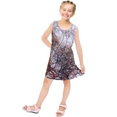 Digitally Painted Colourful Winter Branches Illustration Kids  Tunic Dress by Nexatart