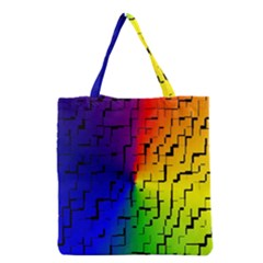 A Creative Colorful Background Grocery Tote Bag