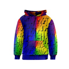 A Creative Colorful Background Kids  Zipper Hoodie