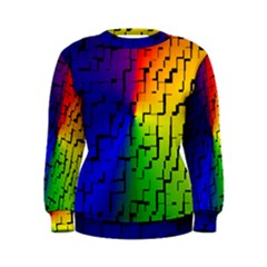 A Creative Colorful Background Women s Sweatshirt