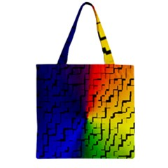 A Creative Colorful Background Zipper Grocery Tote Bag by Nexatart