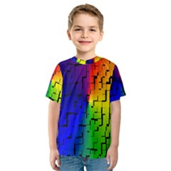A Creative Colorful Background Kids  Sport Mesh Tee
