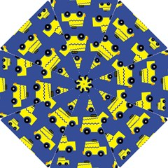 A Fun Cartoon Taxi Cab Tiling Pattern Hook Handle Umbrellas (small)