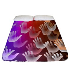 Clipart Hands Background Pattern Fitted Sheet (california King Size)