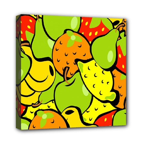 Digitally Created Funky Fruit Wallpaper Mini Canvas 8  X 8  by Nexatart