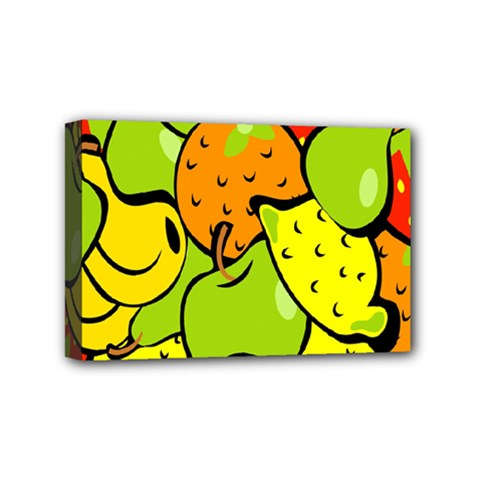 Digitally Created Funky Fruit Wallpaper Mini Canvas 6  X 4  by Nexatart