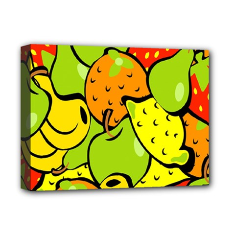 Digitally Created Funky Fruit Wallpaper Deluxe Canvas 16  X 12