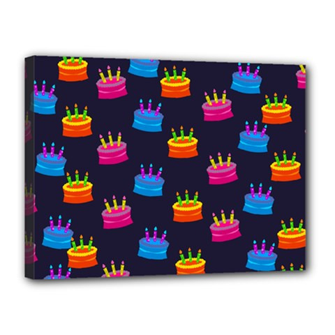 A Tilable Birthday Cake Party Background Canvas 16  X 12  by Nexatart