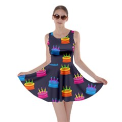 A Tilable Birthday Cake Party Background Skater Dress