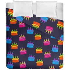 A Tilable Birthday Cake Party Background Duvet Cover Double Side (california King Size) by Nexatart