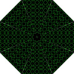 Green Black Pattern Abstract Folding Umbrellas by Nexatart