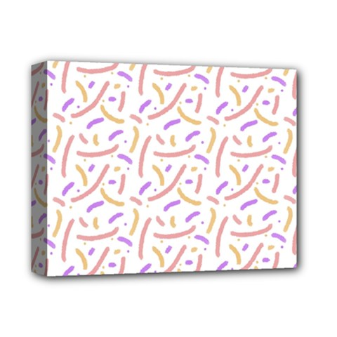Confetti Background Pink Purple Yellow On White Background Deluxe Canvas 14  X 11  by Nexatart