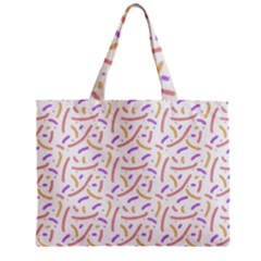 Confetti Background Pink Purple Yellow On White Background Zipper Mini Tote Bag by Nexatart