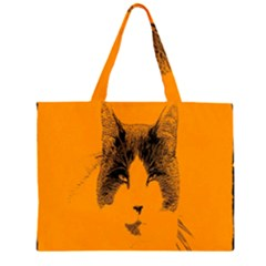Cat Graphic Art Zipper Large Tote Bag by Nexatart