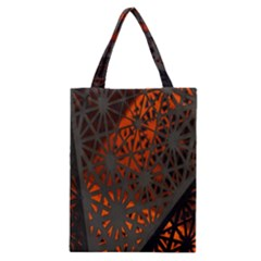 Abstract Lighted Wallpaper Of A Metal Starburst Grid With Orange Back Lighting Classic Tote Bag by Nexatart