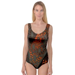 Abstract Lighted Wallpaper Of A Metal Starburst Grid With Orange Back Lighting Princess Tank Leotard