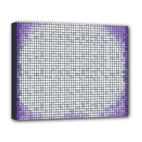 Purple Square Frame With Mosaic Pattern Deluxe Canvas 20  X 16
