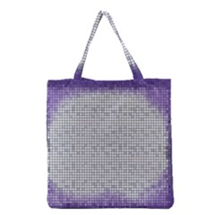 Purple Square Frame With Mosaic Pattern Grocery Tote Bag by Nexatart