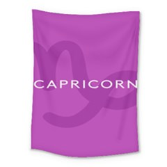 Zodiac Capricorn Purple Medium Tapestry by Mariart