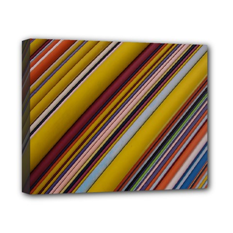 Colourful Lines Canvas 10  X 8  by Nexatart