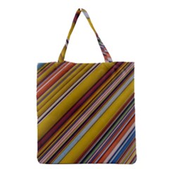 Colourful Lines Grocery Tote Bag by Nexatart