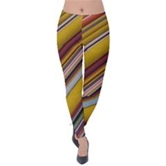 Colourful Lines Velvet Leggings