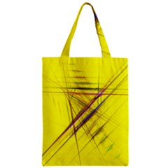 Fractal Color Parallel Lines On Gold Background Zipper Classic Tote Bag by Nexatart