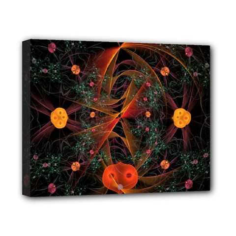 Fractal Wallpaper With Dancing Planets On Black Background Canvas 10  X 8  by Nexatart