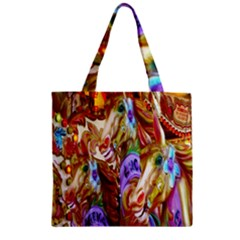 3 Carousel Ride Horses Zipper Grocery Tote Bag by Nexatart