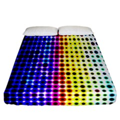 A Creative Colorful Background Fitted Sheet (California King Size)