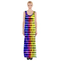 A Creative Colorful Background Maxi Thigh Split Dress by Nexatart