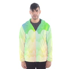 Cloud Blue Sky Rainbow Pink Yellow Green Red White Wave Hooded Wind Breaker (men) by Mariart