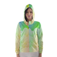 Cloud Blue Sky Rainbow Pink Yellow Green Red White Wave Hooded Wind Breaker (women) by Mariart