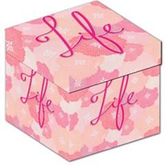 Life Typogrphic Storage Stool 12