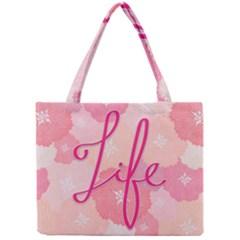 Life Typogrphic Mini Tote Bag