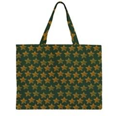 Stars Pattern Background Zipper Large Tote Bag by Nexatart