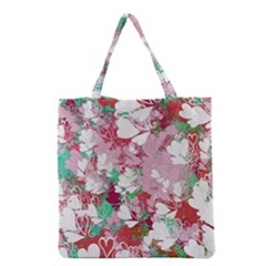 Confetti Hearts Digital Love Heart Background Pattern Grocery Tote Bag