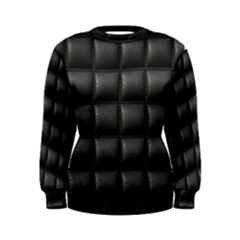 Black Cell Leather Retro Car Seat Textures Women s Sweatshirt