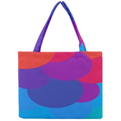 Circles Colorful Balloon Circle Purple Blue Red Orange Mini Tote Bag by Mariart