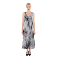 Trees Without Leaves Sleeveless Maxi Dress