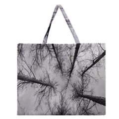Trees Without Leaves Zipper Large Tote Bag by Nexatart