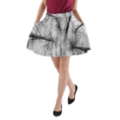 Trees Without Leaves A Line Pocket Skirt by Nexatart