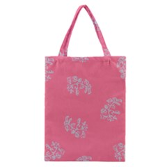 Branch Berries Seamless Red Grey Pink Classic Tote Bag by Mariart