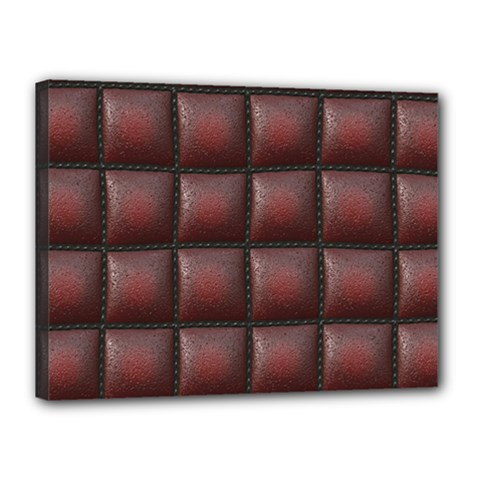 Red Cell Leather Retro Car Seat Textures Canvas 16  X 12