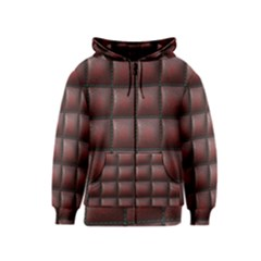 Red Cell Leather Retro Car Seat Textures Kids  Zipper Hoodie by Nexatart