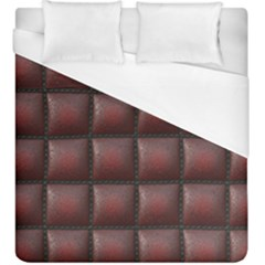 Red Cell Leather Retro Car Seat Textures Duvet Cover (king Size) by Nexatart