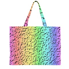 A Creative Colorful Background Zipper Large Tote Bag by Nexatart