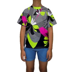 Abstract Illustration Nameless Fantasy Kids  Short Sleeve Swimwear by Nexatart