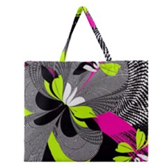 Abstract Illustration Nameless Fantasy Zipper Large Tote Bag by Nexatart